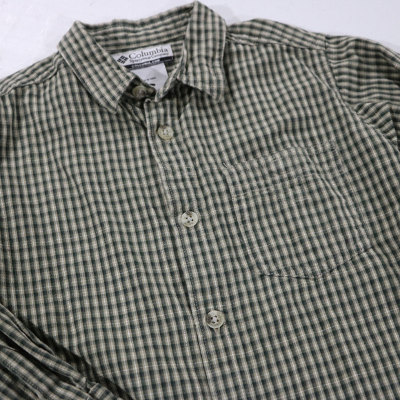 Columbia Other - Green Stripe Long Sleeve Size 5 Dress Shirt Boys